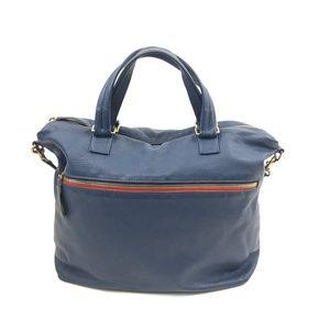 Clare Vivier Soft Leather Blue Handbag Purse
